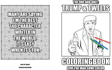 Trump & Tweets Coloring book